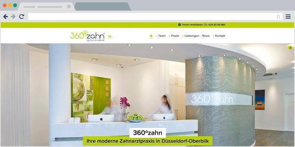 360gradzahn - Screenshot Webseite