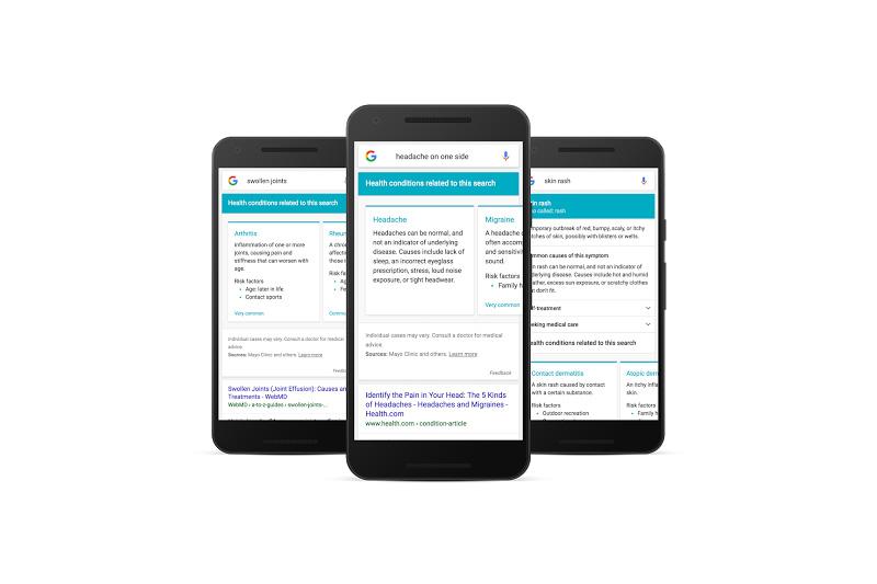 Google symptom search mobile